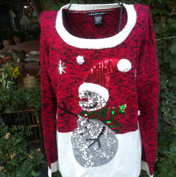 United States Sweaters Christmas Sweater Sz L